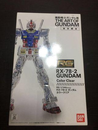 Rx78-2 Gundam color clear RG 高達 東京限定