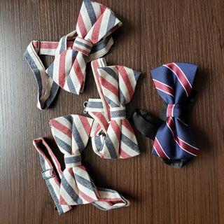 結婚 新郎 伴郎 bow tie 煲呔 紅白藍色