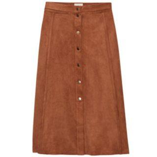 Aritzia Wilfred Gaudin Faux Suede Skirt Size 0