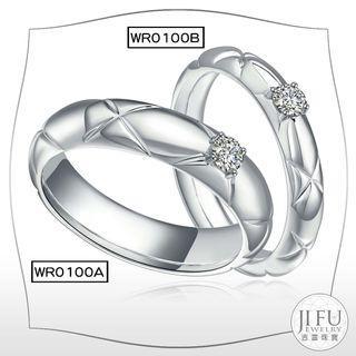 吉富珠寶銀樓-日韓求婚對戒 WR0100【十分鑽石對戒】→※下標前請先詢問當日優惠價格※