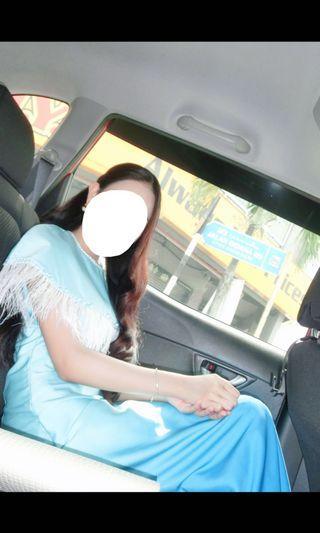 Baju Raya Kurung Moden Custom Made Feather Prom dress off shoulder