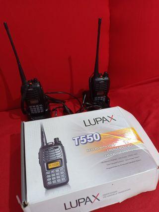 2pcs Handy Talkie LUPAX T550 VHF-FM Tranceiver