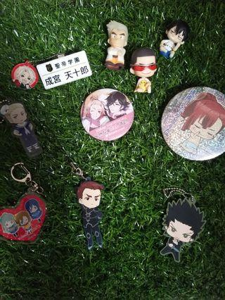 Anime Button Badges / Small figurines / Key chain