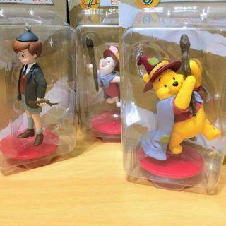 3款 日本 迪士尼 Disney 絕版 公仔 小熊維尼 Winnie Pooh 皮克斯 一番賞 吊飾 玩具  聖誕
