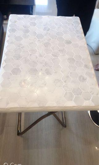 六角型馬賽克手工 真雲石摺檯