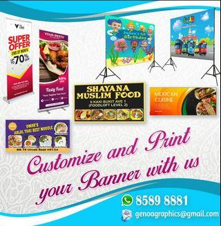 Birthday Banner / milestone Board / Flyer / Standee and any type of printing