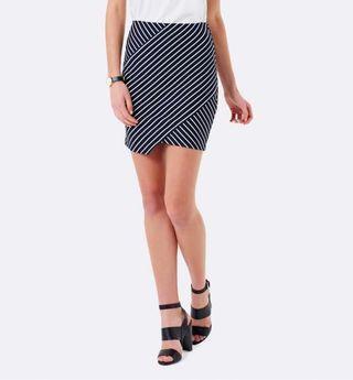 Forever New Asymmetric Wrap Skirt