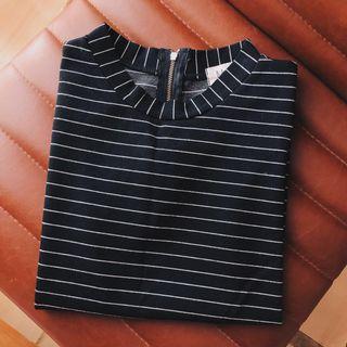 Stripe High Neck Top