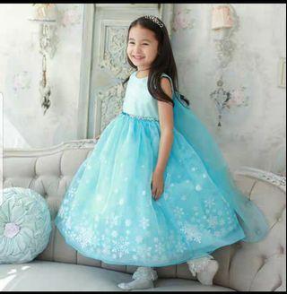 🚚 Halloween Frozen Elsa Princess Dress Girl Party Dress