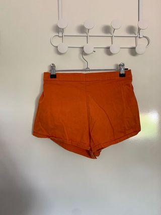 Orange high waisted short