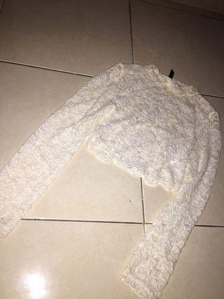 Cropped Lace Sweater