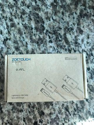 🚚 Zoetouch lightning cable 1M (3pack)