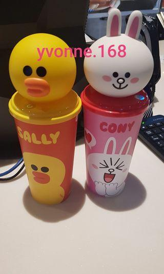 (INSTOCK) Line Friends Cup Topper - Sally/Cony