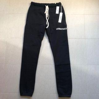 XS Fear of God Essentials FOG Black sweat pants sweatpants