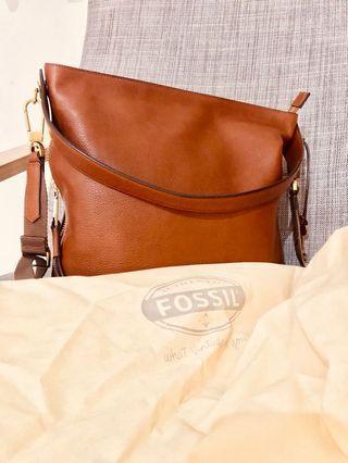 FOSSIL BAG MAYA HOBO BROWN SMALL ORIGINAL LIKE NEW