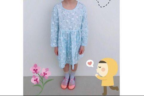 🚚 Long Sleeve Floral Dress Children Girl Dress