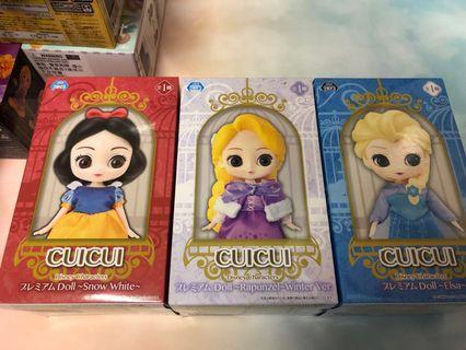 全新sega cuicui disney characters 白雪 / Elsa / 長髮公主