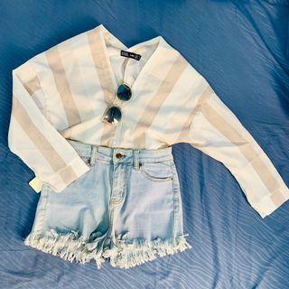 (NEW) Stripe blouse