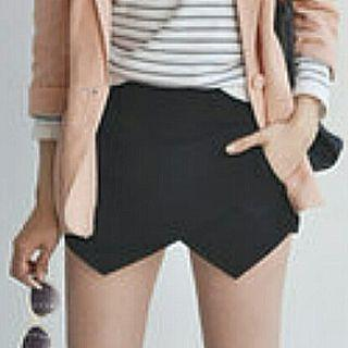 Classy Black/Blue/Pink Skorts Shorts With Functional Side Pockets