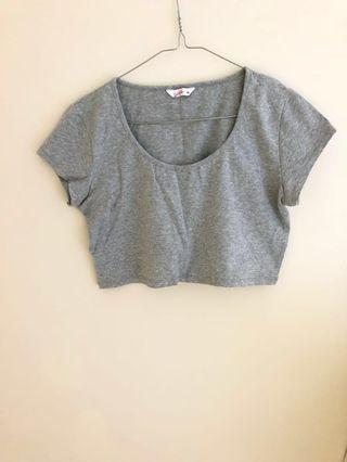 SUPRE grey crop top