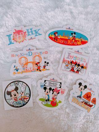 迪士尼貼紙 香港版