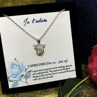 Silver 925 necklace with Capricorn charm