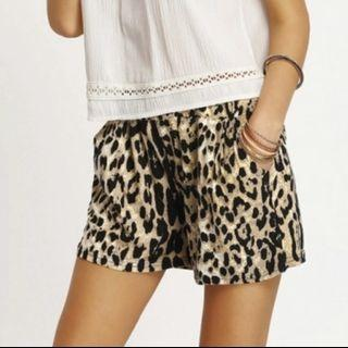 Korean Classy Leopard Print Shorts Pants With Functional Side Pockets