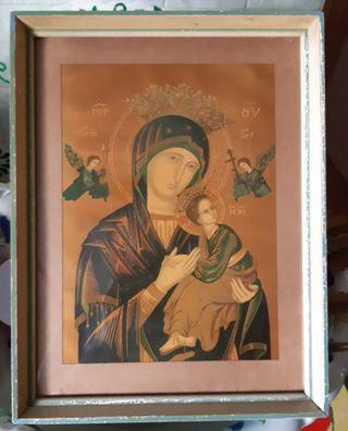 🚚 Vintage Orthodox print in Old Wooden frame