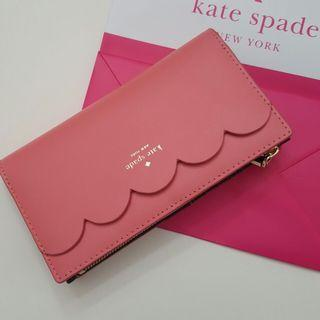 (Instock !) Kate Spade Wallet in Pink Smooth Leather