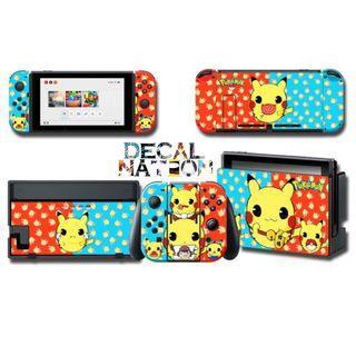 [In Stock] Nintendo Switch Cutesy Pikachu Bi-colour Decal