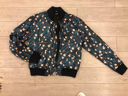 Versace | pattered bomber puff jacket 50% off
