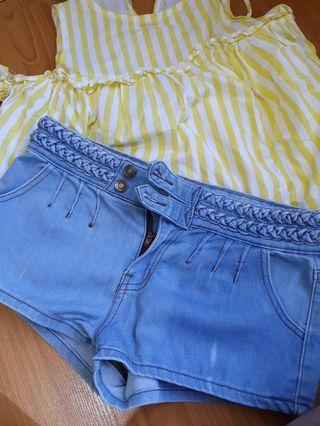 Celana hotpants jeans merk Panelli