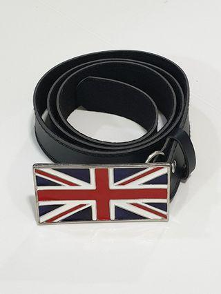 Union Jack Belt Buckle with Belt (Non Leather)