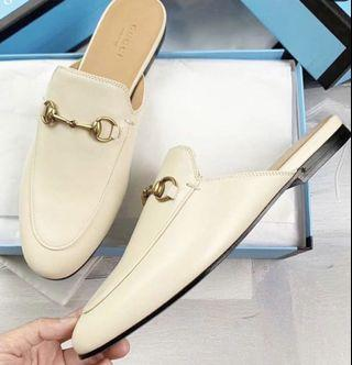 Gucci Princetown leather slip-ons (authentic factory outlet item!)
