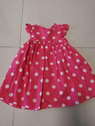 Mothercare pink dots dress 9-12mths