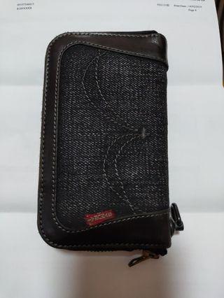 Samurai jeans denim leather wallet take5日牛