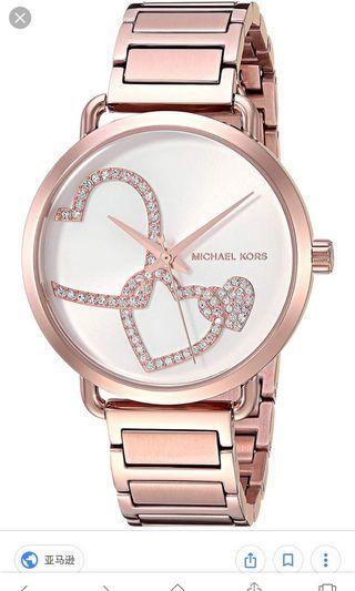 🚚 全新MK3825 37mm 手錶愛心玫瑰金