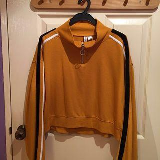 yellow & black sweatshirt