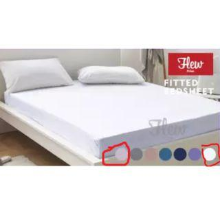 New single size cadar/bedsheet plain color (white)