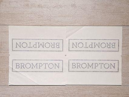 Brompton Decal (2016 Onwards) - Black