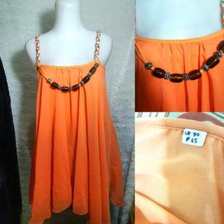Orange Woman Top