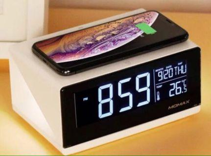 Momax 無線充電加鬧鐘