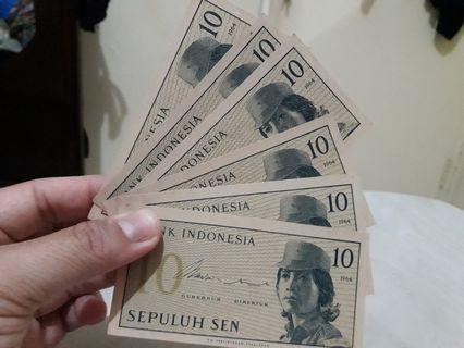UANG KUNO 10 SEN
