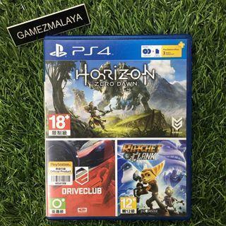 [USED] PS4 HORIZON ZERO DAWN + DRIVECLUB - (GAMEZMALAYA)   PS4 USED GAMES