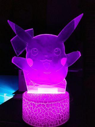 picachu 3D LED LIGHT(note both side plastic not removed,or it will be nicer)