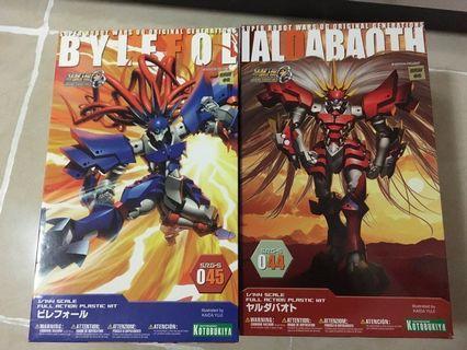 一共2盒 全新未砌 壽屋 轟級修羅神 紅 藍 bylefol SRG-S 045 044 srw og super robot wars 超級機器人大戰 模型 機戰 KOTOBUKIYA 修羅神 ialdabaoth 1/144 hg rg mg Gundam 高達 高達模型