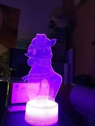 DETECTIVE PICACHU 3D LED.LIGHT(note both side plastic not removed,or it will be nicer)