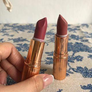 Charlotte Tilbury lipstick pillow talk+secret Salam