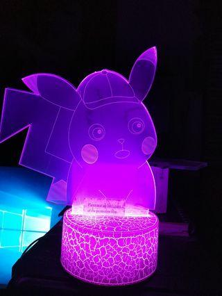 DETECTIVE PICACHU 3D LED LIGHT(note both side plastic not removed,or it will be nicer)