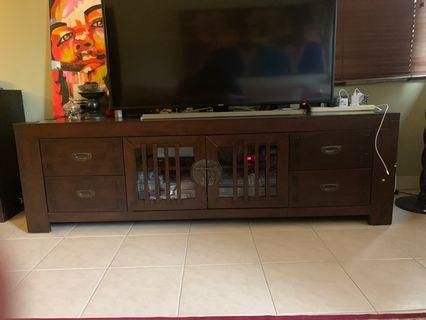 ORIENTAL STYLE SOLID WOOD TV CABINET